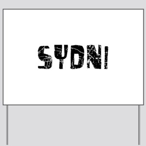 Sydni Faded (Black) Yard Sign
